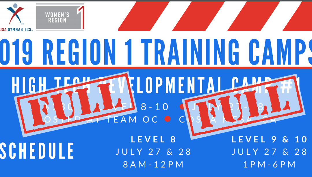 Region 1 Training Camps