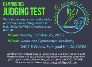 Judges Testing Opportunity @ American Gymnastics Academy