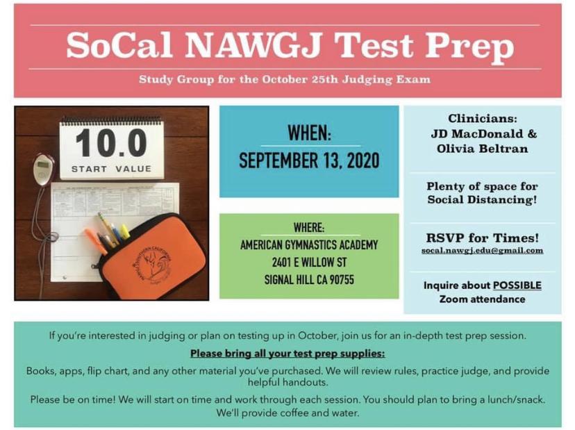 SoCal NAWGJ Test Prep Session