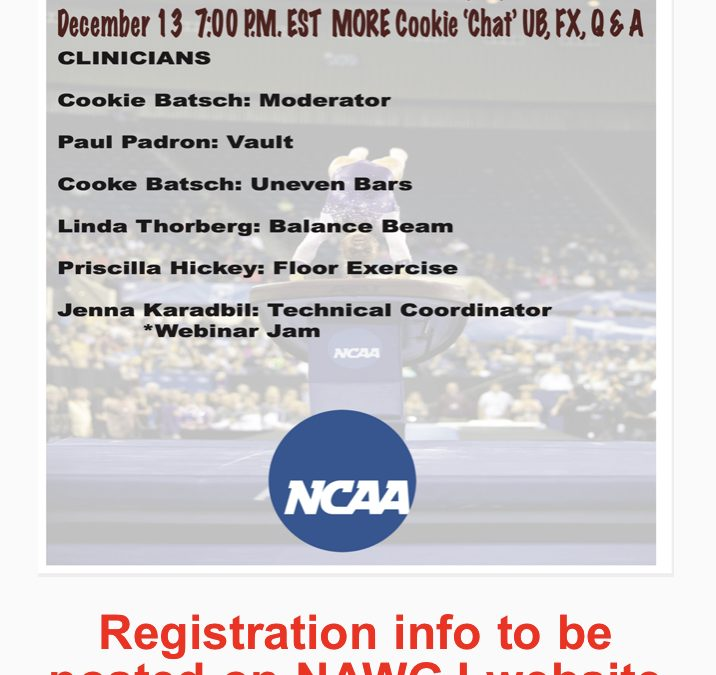 NAWGJ – Save the Date!! NCAA Virtual Judging Clinics