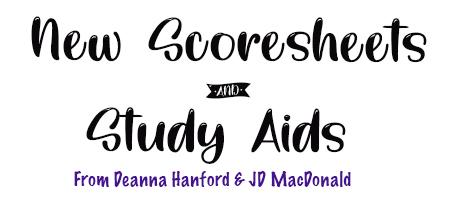 New Compulsory Scoresheets